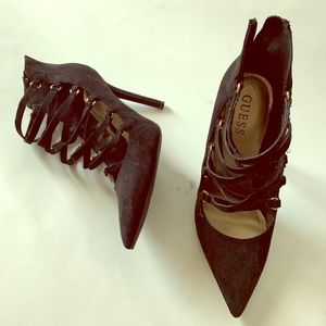 Guess Heels with zipper back